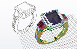 Custom Jewelry design modeling 3D printing full service by Tech